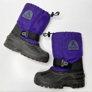 KAMIK Girls Snow Boots Size 2 Purple Black